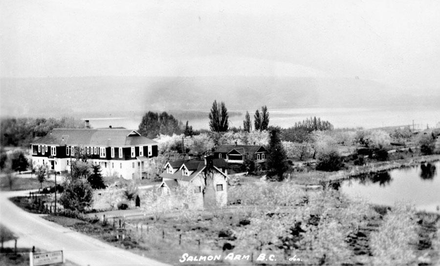 Salmon Arm Hospital and McGuire Lake, 1940s